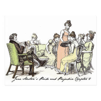 The Bennets of Longbourn - Jane Austen's P&P Postcard