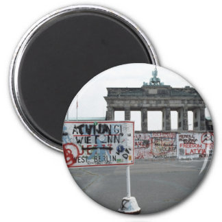 The Berlin Wall 2 Inch Round Magnet