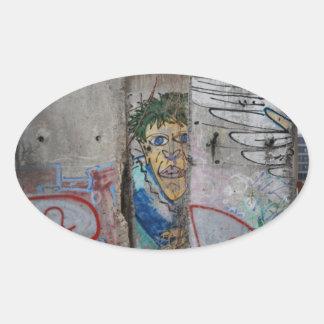 The Berlin Wall - Germany Oval Sticker