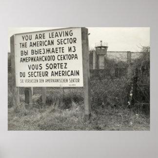 The Berlin Wall in a Neighborhood Poster