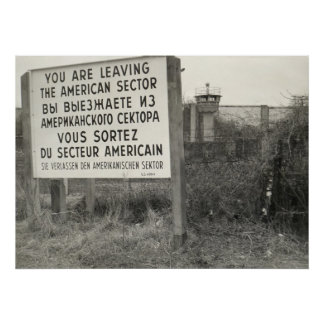 The Berlin Wall in a Neighborhood Print