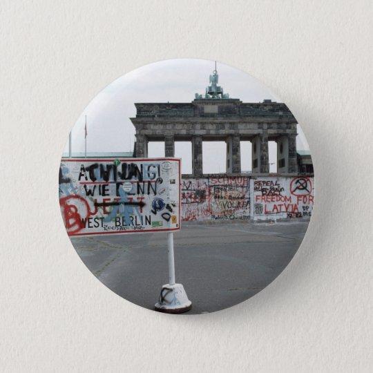 The Berlin Wall Pinback Button
