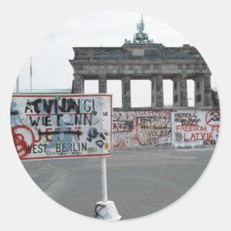 The Berlin Wall Round Sticker