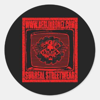 The Berlinbonez Logo T Shirt Round Sticker