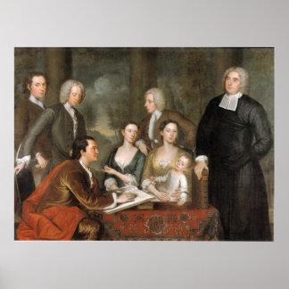 The Bermuda Group, by John Smibert Print