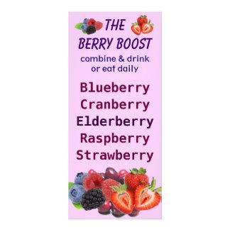 The Berry Boost rackcard Rack Card