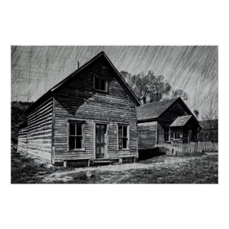 The Bessette House - Bannack Montana Print
