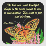 The best and most beautiful things square sticker