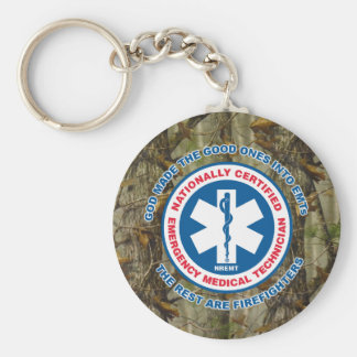 The Best are EMTs, the Rest are Firefighters Basic Round Button Keychain