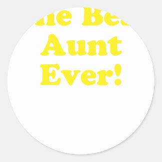 The Best Aunt Ever Classic Round Sticker