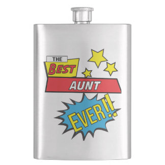 The best aunt ever pop art comic book flask