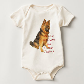 The Best Baby Sitter is a German Shepherd Baby Bodysuit