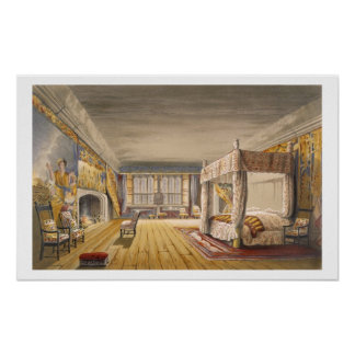 The Best Bedroom, Cotehele House, c.1830-40 (colou Poster