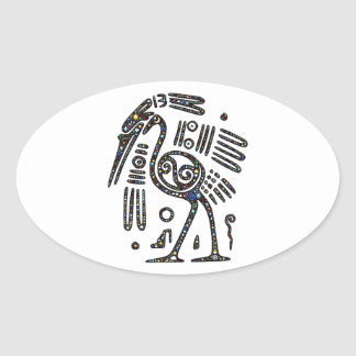 The best bird black and white oval sticker