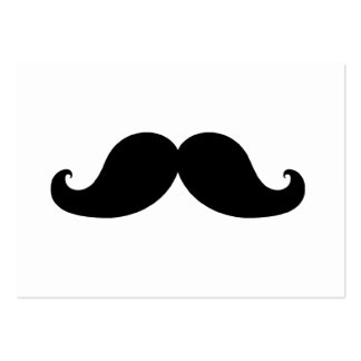 THE BEST BLACK MUSTACHE LARGE BUSINESS CARDS (Pack OF 100)