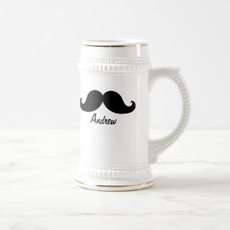 THE BEST BLACK MUSTACHE PERSONALIZED BEER STEIN