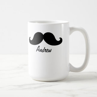 THE BEST BLACK MUSTACHE PERSONALIZED CLASSIC WHITE COFFEE MUG