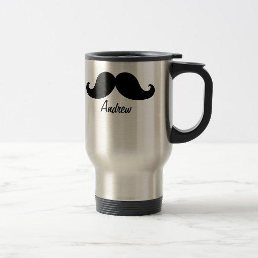 THE BEST BLACK MUSTACHE PERSONALIZED COFFEE MUG