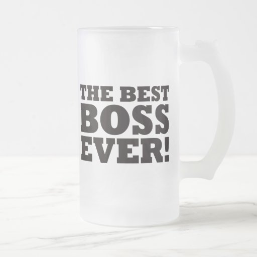 The Best Boss Ever 16 Oz Frosted Glass Beer Mug