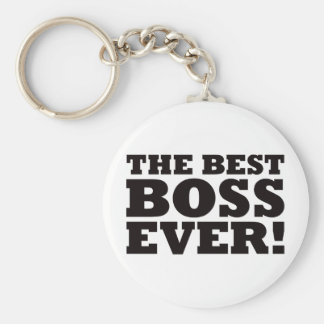 The Best Boss Ever Basic Round Button Keychain