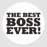 The Best Boss Ever Round Stickers