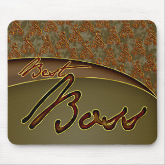 The best boss golden brown design mouse pad