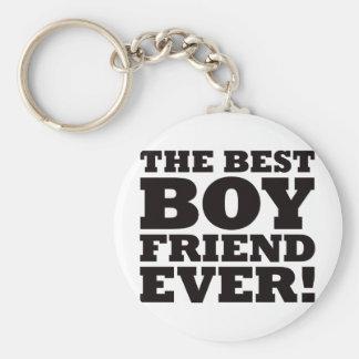 The Best Boyfriend Ever Basic Round Button Keychain