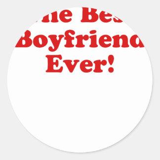 The Best Boyfriend Ever Classic Round Sticker