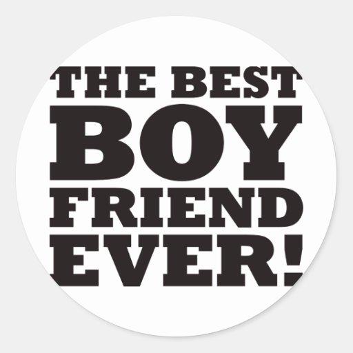 The Best Boyfriend Ever Round Stickers