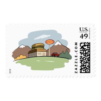 The best burger restaurant postage