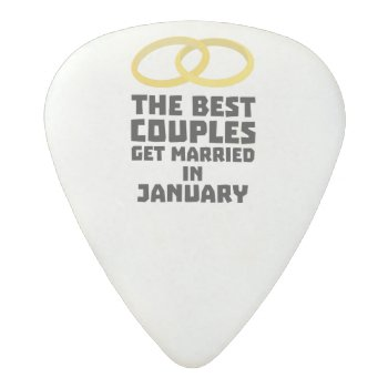 The Best Couples In January Z00xc Acetal Guitar Pick by i_love_cotton at Zazzle