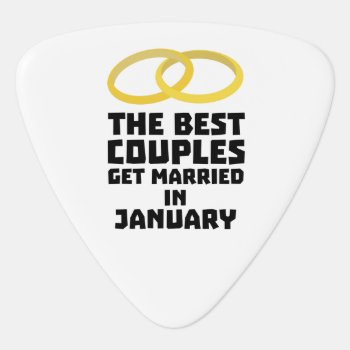 The Best Couples In January Z00xc Guitar Pick by i_love_cotton at Zazzle