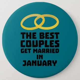 The Best Couples in JANUARY Z00xc Pinback Button