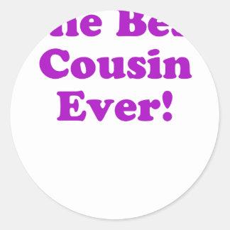 The Best Cousin Ever Round Sticker