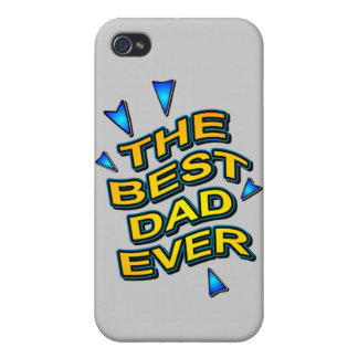 THE BEST DAD EVER fun bright gift for dad iPhone 4/4S Cover
