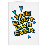 THE BEST DAD EVER fun comics logo card for daddy