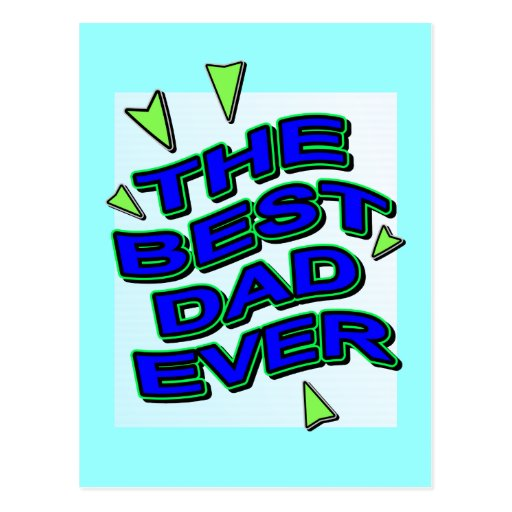THE BEST DAD EVER fun comics logo card for daddy Postcard