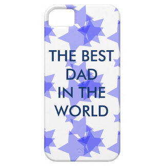 THE BEST DAD IN THE WORLD STARS BLUE PHONE iPhone SE/5/5s CASE