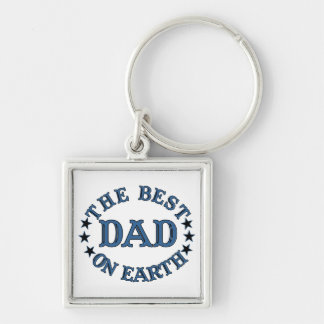 The Best Dad On Earth Blue Keychain