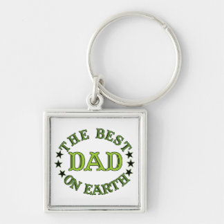 The Best Dad On Earth Green Keychain