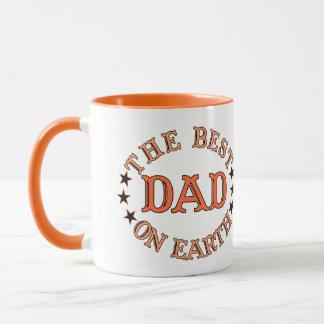 The Best Dad On Earth Orange Mug