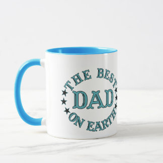 The Best Dad On Earth Turqoise Mug