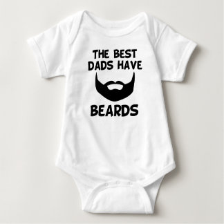 The Best Dads Have Beards Baby Bodysuit