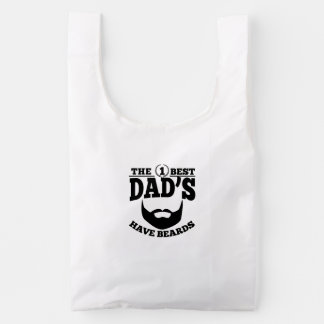The Best Dad's Have Beards Reusable Bag