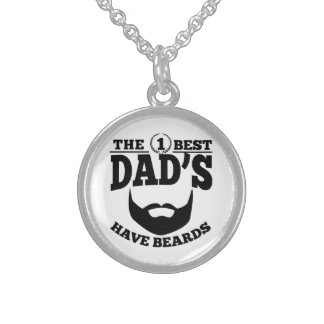 The Best Dad's Have Beards Sterling Silver Necklace