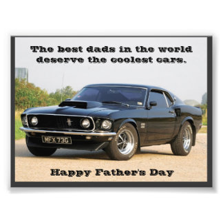 The Best Dads in the World Deserve the Coolest Car Photo Print
