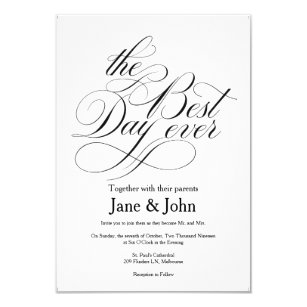 Best Day Ever Wedding Invitations Zazzle