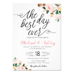 The best day ever wedding theme invitation
