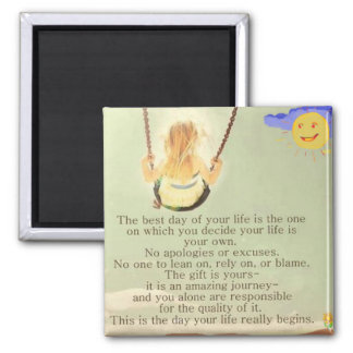 The best day of your life 2 inch square magnet