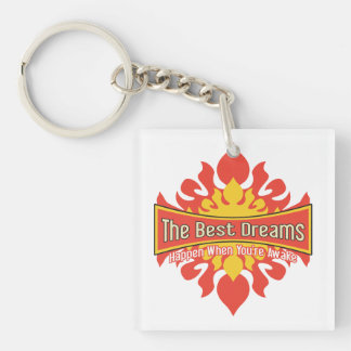 The Best Dreams Square Acrylic Keychain
